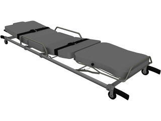 Pensi 2000 SE Ambulance Strecher 3D Model