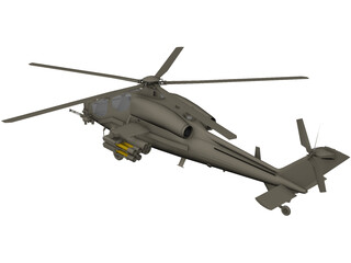 T-129 ATAK Helicopter 3D Model