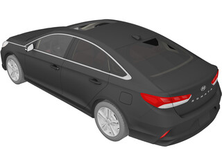 Hyundai Sonata (2018) 3D Model