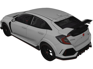 Honda Civic Type-R (2018) 3D Model