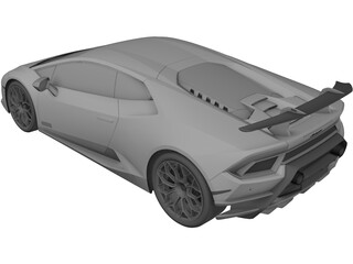 Lamborghini Huracan Performante (2017) 3D Model