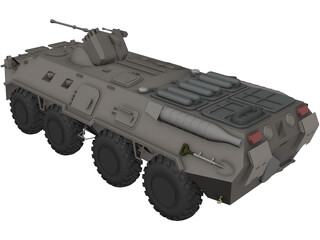 BTR-80 Armored Personnel Carrier 3D Model