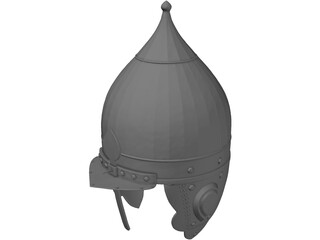 Russian Knight Helmet 3D Model