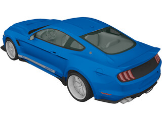 Ford Mustang Shelby Super Snake Coupe (2018) 3D Model
