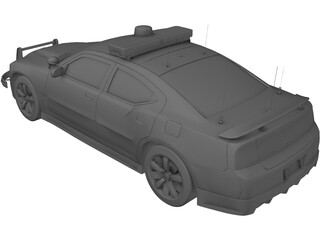 Dodge Charger SRT-8 2006 Police 3D Model