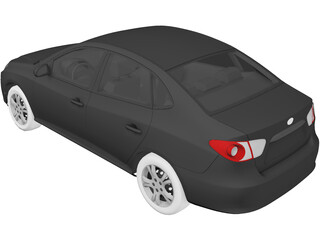 Hyundai Accent (2011) 3D Model