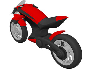 Futuristic Motorcycle 3D Model