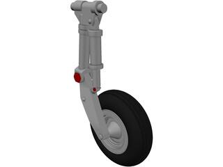 IAR 99 Main Landing Gear 3D Model