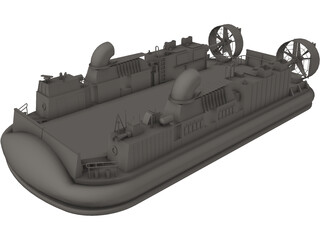 LCAC Hovercraft 3D Model