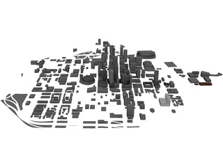 Charlotte Downtown 3D Model