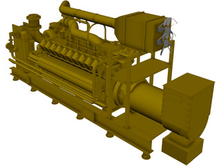 Caterpillar G35 20C V20 2MW 3D Model