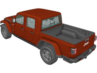 Jeep Gladiator Rubicon (2020) 3D Model