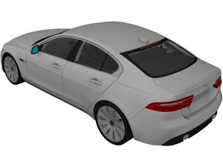 Jaguar XE (2018) 3D Model