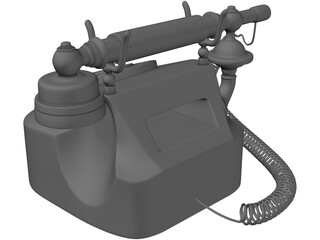 Western Electric Rotary Dial Phone 3D Model