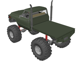 Chevrolet 4x4 Green Machine Pickup (1960) 3D Model