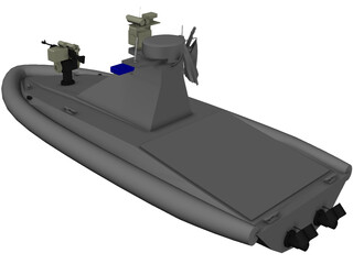 Homeland Security Un-Manned Patrol Boat 3D Model