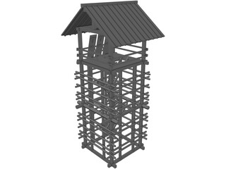 Lookout Seirou Tower 3D Model