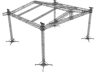 Eurotruss ST Groundsuport 3D Model