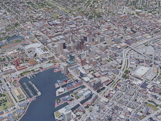 Baltimore City, MD, USA (2019) 3D Model