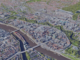 Bremen City, Germany (2019) 3D Model