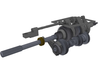 Ford T5 5-Speed Transmission Internals 3D Model