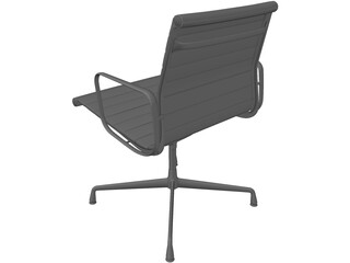 Charles Eames Aluminum Office Ball Chair 3D Model