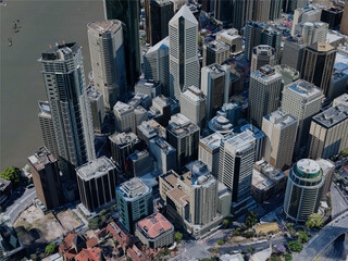 Brisbane City Center, Australia (2019) 3D Model
