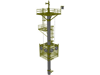 Well Caisson Deck 3D Model