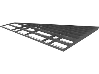 F-16 Wing Structure 3D Model