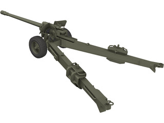 M-46 Field Cannon 3D Model