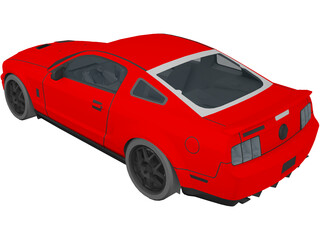 Ford Mustang Shelby GT500 3D Model