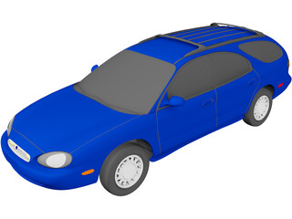 Mercury Sable Wagon (1996) 3D Model