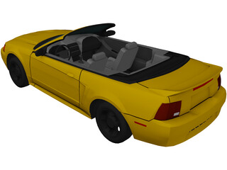 Ford Mustang Convertible (2000) 3D Model