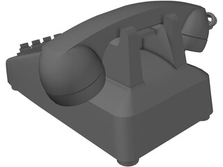 Telephone Rotary Office 3D Model
