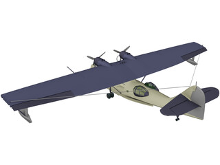 Consolidated PBY-5 Catalina 3D Model