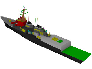 ROK Destroyer KDX-III 3D Model