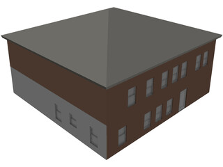 Two Story Home 3D Model