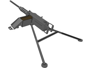Browning 50 cal 3D Model