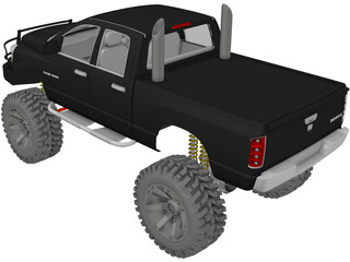 Dodge Ram Offroad (2007) [Lifted] 3D Model