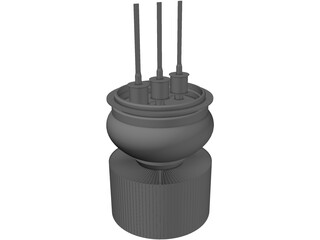 Air cooled transmitter triode 3D Model
