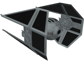 Star Wars Interceptor 3D Model