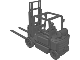 Forklift YALE with Operator 3D Model