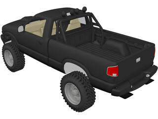 Chevrolet S-10 Pickup [Lifted] 3D Model