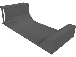 Halfpipe 3D Model