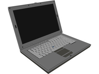 Laptop Dell Latitude 3D Model