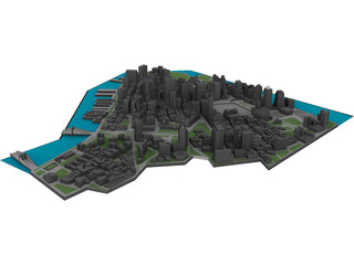 New York City Downtown 3D Model