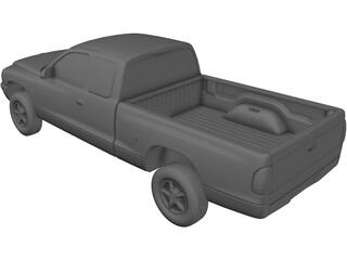 Dodge Dakota Extended Cab (1997) 3D Model