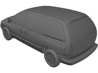 Plymouth Voyager (1997) 3D Model