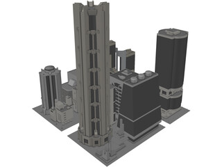 City Part Future Like 3D Model