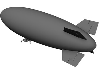 Airship Blimp 3D Model